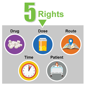 5-rights_drug-dose-route-time-patient-circles-square-grey-75percent